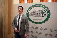 Vicenza: renzo Bossi nella sede della villa palladiana La Favorita per la presentazione del parlamento padano.