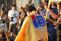 Ira Kaplan from Yo La Tengo performs at he final Pool Parties Concert in McCarren Park  , Brooklyn NYC