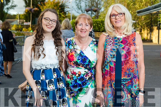 Niamh and Liz Furlong with Breda Drumm (Tralee) at the Rose of Tralee fashion show at the dome on Sunday night.