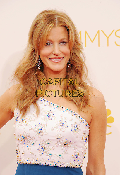 LOS ANGELES, CA- AUGUST 25: Actress Anna Gunn arrives at the 66th Annual Primetime Emmy Awards at Nokia Theatre L.A. Live on August 25, 2014 in Los Angeles, California.<br /> CAP/ROT/TM<br /> &copy;Tony Michaels/Roth Stock/Capital Pictures