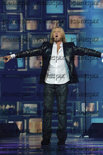 DEF LEPPARD. - vocalist Joe Elliott - performing their album 'Hysteria' live during their nine date residency at the Hard Rock Hotel and Casino in Las Vegas USA - 06 Apr 2013.  Photo credit: Marc Villalonga/Dalle/IconicPix