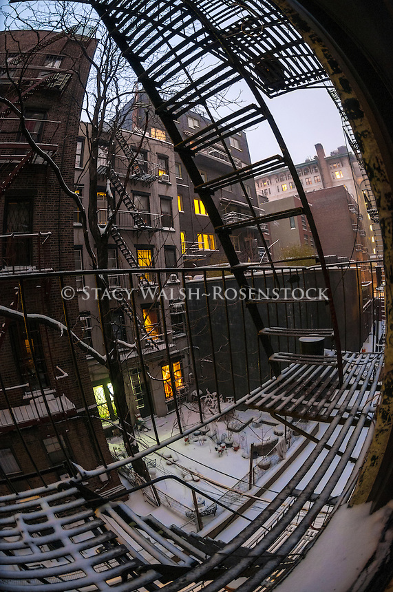 New York, NY - View on a wintry day in the South Village neighborhood of Manhattan. © Stacy Walsh Rosenstock/Alamy