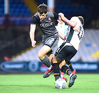 Lincoln City's Ellis Chapman vies for possession with Port Vale's Luke Hannant<br /> <br /> Photographer Andrew Vaughan/CameraSport<br /> <br /> The EFL Sky Bet League Two - Port Vale v Lincoln City - Saturday 13th October 2018 - Vale Park - Burslem<br /> <br /> World Copyright © 2018 CameraSport. All rights reserved. 43 Linden Ave. Countesthorpe. Leicester. England. LE8 5PG - Tel: +44 (0) 116 277 4147 - admin@camerasport.com - www.camerasport.com