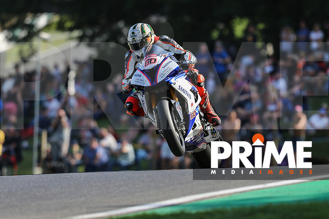 Peter Hickman (60) of the BSB Smiths Racing (BMW) race team  during DataTag Extreme Qualifying at the Bennetts British Superbike Championship Round BSB Round 8 (Saturday) at Cadwell Park Circuit, Louth, England on 18 August 2018. Photo by David Horn.