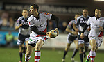 17 February 2012; Ian Humphreys looks for support,  Celtic League, Cardiff Blues v Ulster, Cardiff Arms Park, Cardiff, Wales..Picture credit: Steve Pope / SPORTINGWALES