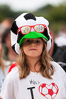 A Western New York Flash fan. The Portland Thorns defeated the Western New York Flash 2-0 during the National Women's Soccer League (NWSL) finals at Sahlen's Stadium in Rochester, NY, on August 31, 2013.