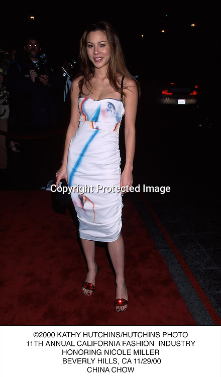 ©2000 KATHY HUTCHINS/HUTCHINS PHOTO.11TH ANNUAL CALIFORNIA FASHION  INDUSTRY.HONORING NICOLE MILLER. BEVERLY HILLS, CA 11/29/00.CHINA CHOW.....