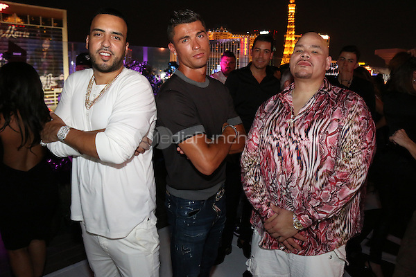 LAS VEGAS, NEVADA - JULY 24, 2016 French Montana, Christiano Ronaldo & Fat Joe attend JLO's private birthday celebration at The Nobu Villa Suite at Caesars Palace, July 24, 2016 in Las Vegas Nevada. Photo Credit: Walik Goshorn / Mediapunch