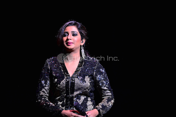 FORT LAUDERDALE, FL - AUGUST 09: Shreya Ghoshal performs at Au-Rene Theater at Broward Center for the Performing Arts on August 09, 2014 in Fort Lauderdale, Florida. Credit: MPI10 / MediaPunch