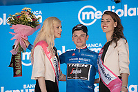 Giulio Ciccone (ITA/Trek-Segafredo) is the final Maglia Azzurra / KOM leader of this Giro; wearing it from the start stage in Bologna to the finish in Verona<br /> <br /> Stage 20: Feltre to Croce D'Aune-Monte Avena (194km)<br /> 102nd Giro d'Italia 2019<br /> <br /> ©kramon