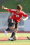 Palos Verdes, CA 02/03/12 - Chris Rieger (Palos Verdes #25) in action during the Peninsula vs Palos Verdes boys varsity soccer game.