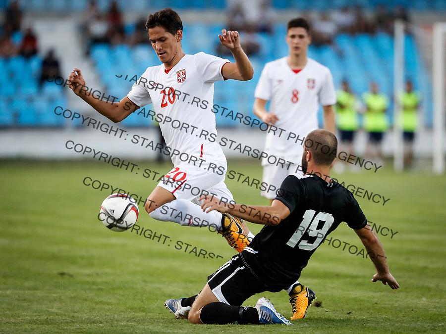 Fudbal Soccer<br /> Reprezentacija Srbije U21<br /> Kvalifikacije za U21 EURO 2019<br /> Srbija U21 v Gibraltar U21<br /> Sasa Lukic (L) and Lee Coombes<br /> Jagodina, 09.01.2017.<br /> foto: Srdjan Stevanovic/Starsportphoto &copy;