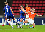 Corine Franco, Gaetane Thiney, Daphne Koster,  QF, Holland-France, Women's EURO 2009 in Finland, 09032009, Tampere, Ratina Stadium.