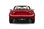 Straight rear view of 2017 Fiat 124-Spider 1.4-Lusso 2 Door Convertible Rear View  stock images
