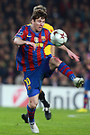 Barcelona's Lionel Messi during their Champions match. March 17, 2010. (ALTERPHOTOS/Tati Quinones)