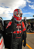 Oct. 31, 2008; Las Vegas, NV, USA: NHRA funny car driver Bob Tasca III during qualifying for the Las Vegas Nationals at The Strip in Las Vegas. Mandatory Credit: Mark J. Rebilas-