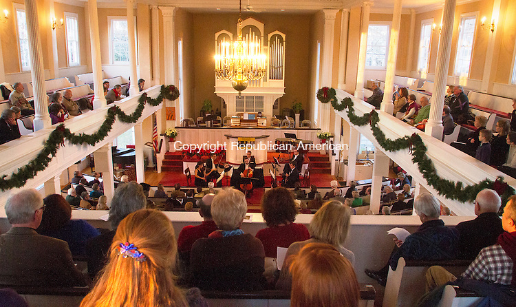 WASHINGTON, CT.- 01 JANUARY 2015 - 010115JW01 - The New Baroque Soloists perform during the Washington Friends of Music 5th Annual New Years Day Concert at the Historic Meeting House on the Green Thursday afternoon.<br /> Jonathan Wilcox Republican-American