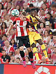 Athletic de Bilbao's Iker Muniain (l) and FC Barcelona's Nelson Semedo during La Liga match. August 16,2019. (ALTERPHOTOS/Acero)
