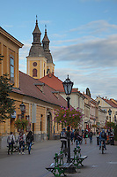 The town of Eger in northern Hungary is graced with Baroque buildings, Dobo Square, a castle, and cathedral