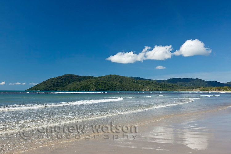 View along Thornton Beach.  Daintree National Park, Queensland, Australia