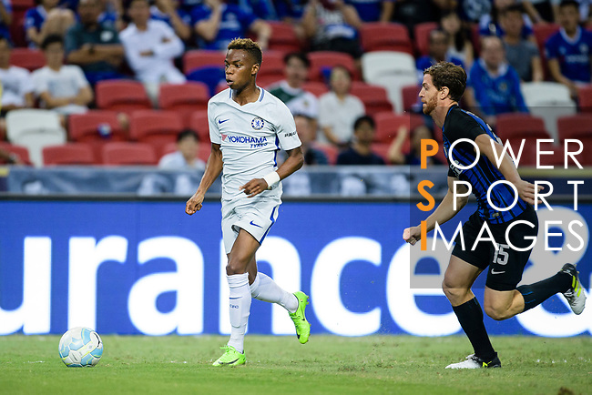 Chelsea Midfielder Charly Musonda (L) in action during the International Champions Cup 2017 match between FC Internazionale and Chelsea FC on July 29, 2017 in Singapore. Photo by Weixiang Lim / Power Sport Images