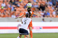 Houston, TX - Thursday Aug. 18, 2016: Whitney Church, Caity Heap during a regular season National Women's Soccer League (NWSL) match between the Houston Dash and the Washington Spirit at BBVA Compass Stadium.