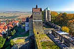 Germany, Deutschland, Saxony, Sachsen, Saxon Switzerland, Stolpen Castle with Cosel Tower, Stolpen, Saxon Switzerland