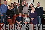 Eddie and Joan Walsh, Mallow, pictured with Liz and Sean Turner, John and Denise Walsh, James O'Brien, Noel Walsh, Tom and Mairead Walsh, Eamon and Patricia Walsh, as they celebrated their 40th wedding anniversary in Lord Kenmares Restaurant, Killarney, on Saturday night.