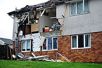 2019 01 15 Gas explosion in a flat in Waun Las, Waunceirch area of Neath in south Wales, UK.