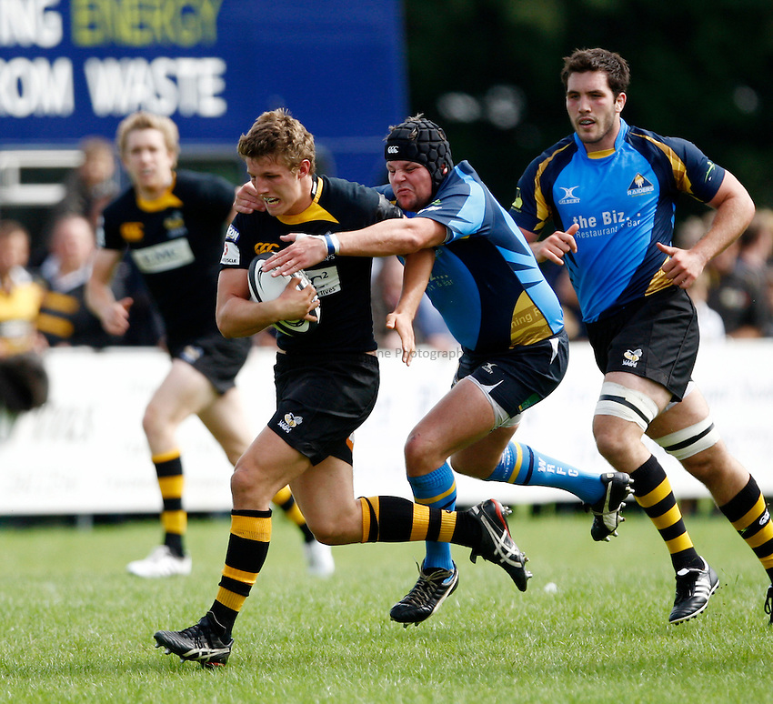 Photo: Richard Lane/Richard Lane Photography. Worthing Raiders v London Wasps As. Pre Season Friendly. 29/08/2010. Wasps' Sam Northcote-Green attacks.