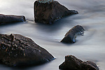 Motion Blur of Water over rocks