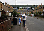 Huddersfield Town 1 Wolverhampton Wanderers 0, 27/08/2016. John Smith's Stadium, Championship. Huddersfield fans walking down Town Terrace. Photo by Paul Thompson.
