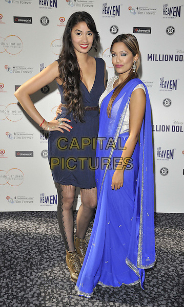LONDON, ENGLAND - JULY 14: Shay Grewal &amp; Tasmin Lucia Khan attend the London Indian Film Festival 'Million Dollar Arm' UK film premiere, Cineworld Shaftesbury Avenue cinema, Coventry St., on Monday July 14, 2014 in London, England, UK. <br /> CAP/CAN<br /> &copy;Can Nguyen/Capital Pictures