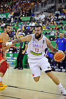 Serbia´s RADULJICA, Miroslav during 2014 FIBA Basketball World Cup Group Phase-Group A, match Serbia vs Spain. Palacio  Deportes of Granada. September 4,2014. (ALTERPHOTOS/Raul Perez)