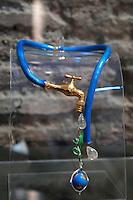 Gianni De Benedittis<br /> Roma 03-04-2016 Terme di Diocleziano. Mostra 'In Acqua: H2O molecole di creativita'. Decine di stilisti hanno creato, per l'occasione, abiti, accessori e gioielli che richiamano l'acqua.<br /> Diocleziano Thermae. Exhibition 'In water: H2O molecules of creativity'.Tens of famous stylists created dresses, accessories and jewels that recall water.<br /> Photo Samantha Zucchi Insidefoto