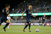 San Jose, CA - Saturday May 05, 2018: Magnus Eriksson during a Major League Soccer (MLS) match between the San Jose Earthquakes and the Portland Timbers at Avaya Stadium.