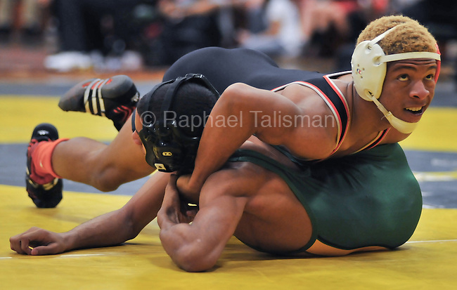 The Gazette DuVal's Lionel Green has control over Parkdale's Franklin Deogracia during their 132 pound semifinal bout in the Class 4A-3A South Region wrestling duals held at Parkdale High School in Riverdale on Wednesday evening. Green won 5-4. /Raphael Talisman for The Gazette/020812. Parkdale's Franklin Deogracia (top) has control over North Point's Malaki Edmond during their 126 pound final bout in the Class 4A-3A South Region wrestling duals held at Parkdale High School in Riverdale on Wednesday evening. Deogracia won 11-9./Raphael Talisman for The Gazette/020812. DuVal's Lionel Green has control over Parkdale's Franklin Deogracia during their 132 pound semifinal bout in the Class 4A-3A South Region wrestling duals held at Parkdale High School in Riverdale on Wednesday evening. Green won 5-4.