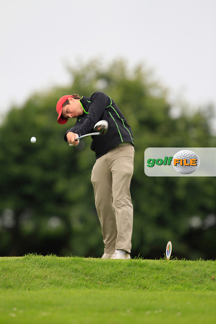 Mark McGrath (Limerick) on the 6th tee during Round 3 of the Irish Boys Amateur Open Championship at Thurles Golf Club on Thursday 26th June 2014.<br /> Picture:  Thos Caffrey / www.golffile.ie