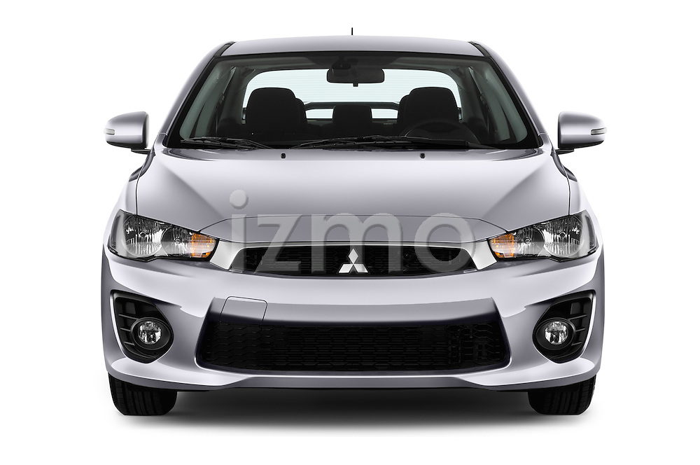 Car photography straight front view of a 2016 Mitsubishi Lancer Intense 4 Door Sedan Front View