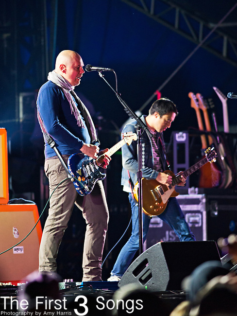 Billy Corgan of The Smashing Pumpkins performs during the The Beale Street Music Festival in Memphis, Tennessee.