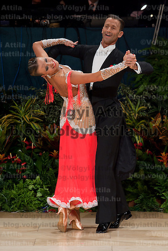 Mirko Gozzoli & Edita Daniute perform their dance during the professional ballroom competition of the United Kingdom Open Dance Championships held in Bournemouth International Centre, Bournemouth, United Kingdom. Wednesday, 20. January 2010. ATTILA VOLGYI