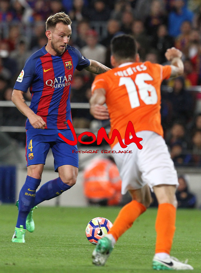 26.04.2017 Barcelona. La Liga , game 34. Picture show Rakitic in action during game between FC Barcelona against Osasuna at Camp Nou01.12.2016 Barcelona.