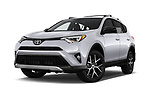 Stock pictures of low aggressive front three quarter view of 2016 Toyota RAV4 SE 5 Door SUV Low Aggressive