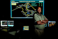 The Charlotte, NC, control room where Piedmont Natural Gas monitors its Charlotte Pipeline System.