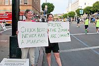Funny signs at the L.A. Marathon.