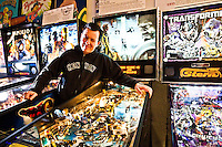 Andrei Massenkoff pictures: Portrait photography of Andrei Massenkoff world pinball champ by San Francisco commercial photographer Eric Millette