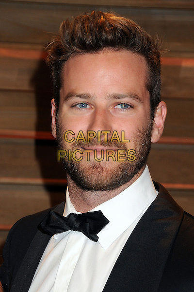 02 March 2014 - West Hollywood, California - Armie Hammer. 2014 Vanity Fair Oscar Party following the 86th Academy Awards held at Sunset Plaza.  <br /> CAP/ADM/BP<br /> &copy;Byron Purvis/AdMedia/Capital Pictures