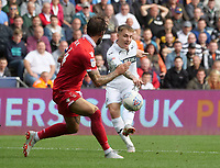 Swansea City's Barrie McKay has a shot at goal<br /> <br /> Photographer Ian Cook/CameraSport<br /> <br /> The EFL Sky Bet Championship - Swansea City v Nottingham Forest - Saturday 15th September 2018 - Liberty Stadium - Swansea<br /> <br /> World Copyright &copy; 2018 CameraSport. All rights reserved. 43 Linden Ave. Countesthorpe. Leicester. England. LE8 5PG - Tel: +44 (0) 116 277 4147 - admin@camerasport.com - www.camerasport.com