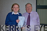 Toma?s de Paor with principal Pa?draig Firte?ar . Toma?s got 11 A's in results. One of 6 in country   Copyright Kerry's Eye 2008
