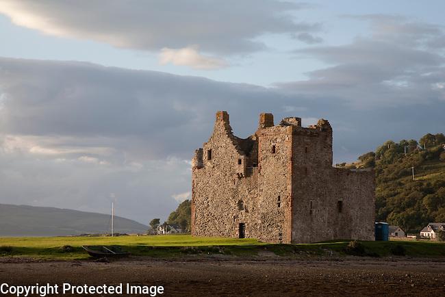 Lochranza Castle on the Isle of Arran, Scotland